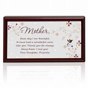 letter to mom personalized keepsake box With letters to mom gift