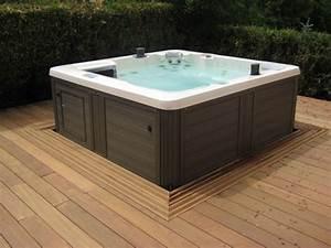Spa Bois Exterieur : originales de terrasses bois pour integrer votre spa ou ~ Premium-room.com Idées de Décoration