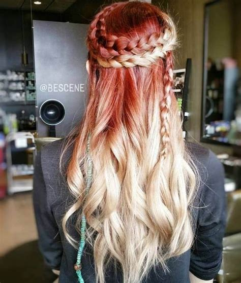 striking red ombre hair ideas popular haircuts