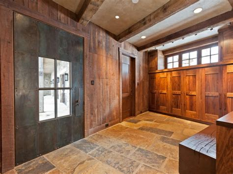 Ski Room; Huge Door For Ease Of Entry; Wall Of Lockers And