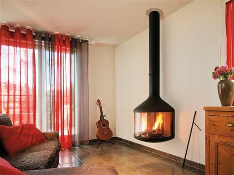 wood burning hanging wall mounted fireplace hubfocus  focus