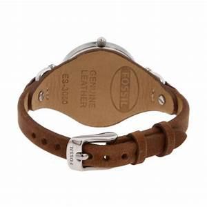 montre fossil cuir es3077 femme sur bijourama montre With robe fourreau combiné avec bracelet montre black oak