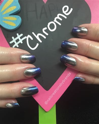 chrome ombre nail art gallery