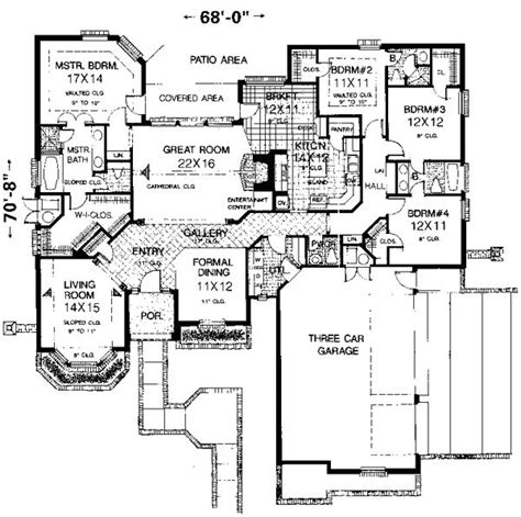 Floor Plans 3000 Square Ideas by 3000 Square Foot House Plans Home Planning Ideas 2017