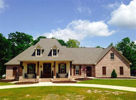 french country home plan  bonus room sm