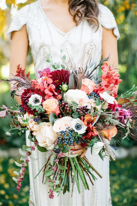 Rich Plum And Pink Wedding Inspiration Fall Florals 100