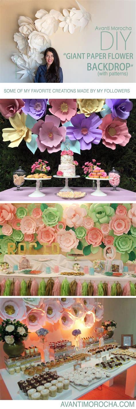 diy quot paper flower backdrop quot weddings event decor