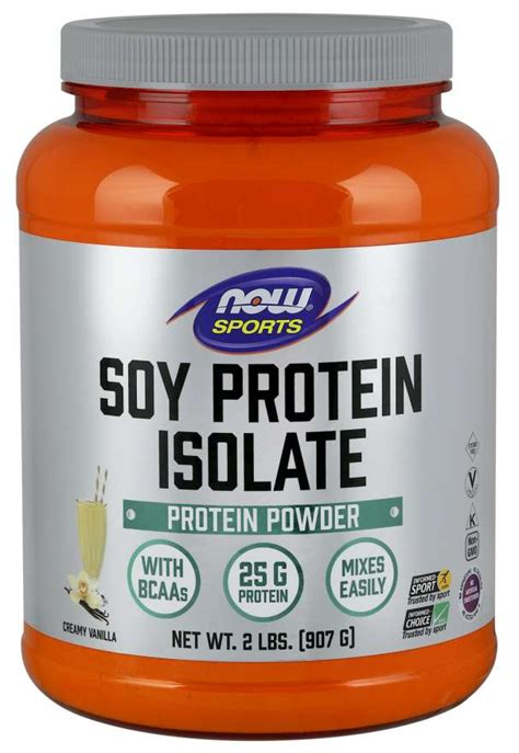 Soy Protein Isolate, Creamy Vanilla Powder | NOW Foods