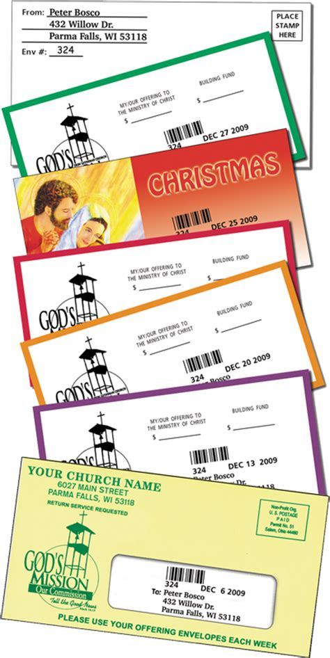 church budget monthly mail benefits  mailing system