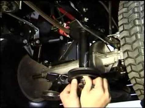 mtd lawnflite  series  drive belt removalmp youtube