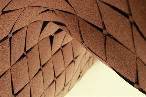 cork architecture laser cut cork surfaces architect magazine interiors acoustics