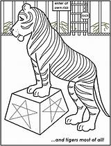 Circus Coloring Pages Tiger Printable Print Animals Carnival Tent Getcoloringpages Popular sketch template