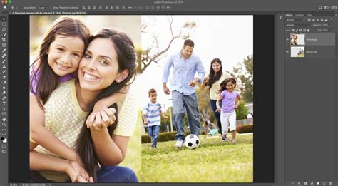 photoshop quick tip   place  images side  side