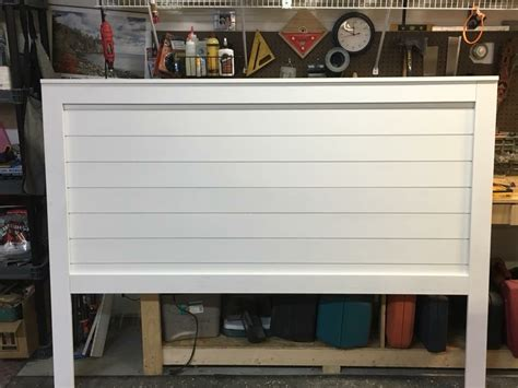 king shiplap headboard ana white