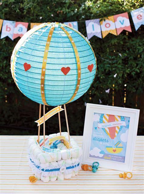 hot air balloon diaper cake tutorial  printables