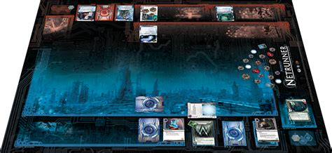 netrunner deck building flight set you up for a netrunner bout with new mat