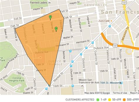haightduboce triangle power outage reported hoodline