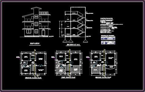 bungalows  dxf design section  autocad designscad