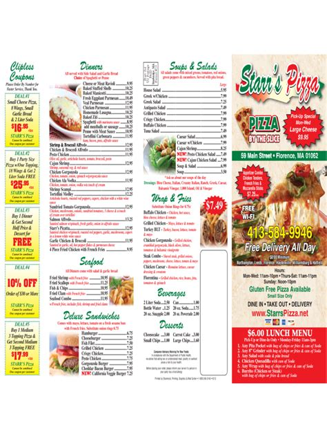 Pizza Menu Template Word by Pizza Menu Template 2 Free Templates In Pdf Word Excel