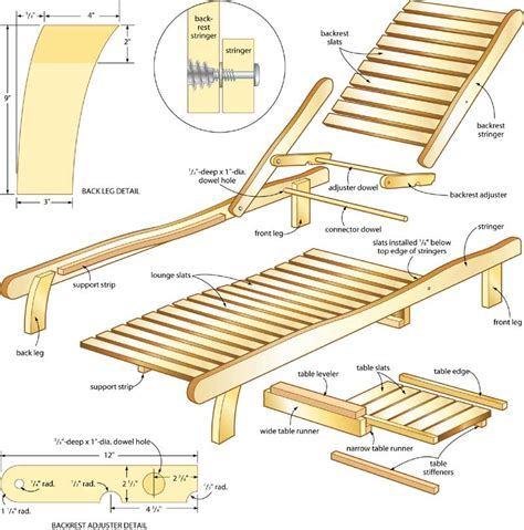 ideas free wood chaise lounge chair plans ch