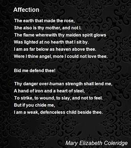 Affection Poem by Mary Elizabeth Coleridge - Poem Hunter