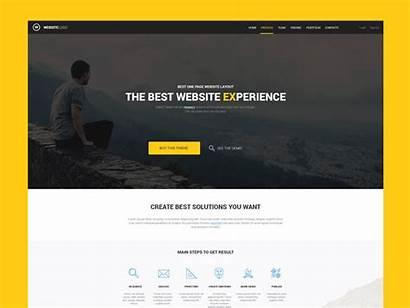 Website Template Dribbble