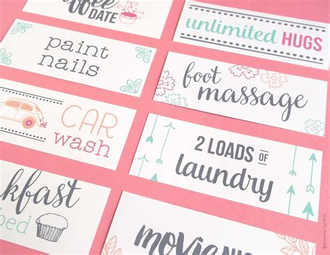 07043 Make Your Own Coupons Free by Free Printable S Day Coupons To Make S Day
