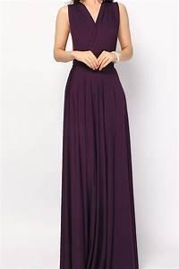 Eggplant Long Convertible Infinity Dress Bridesmaid Dress ...
