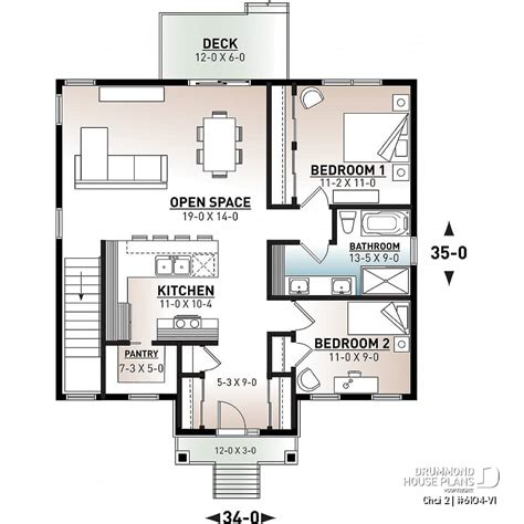 2 Bedroom House Plans Open Floor Plan House Plans and
