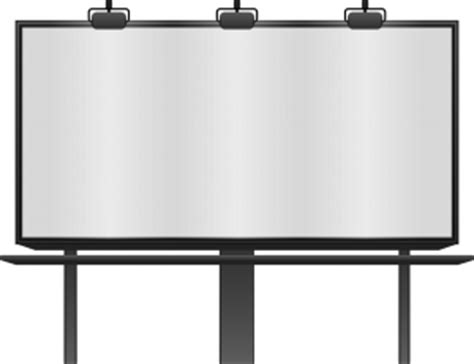 Blank Billboard Clip Art Red blank billboard page clip art 300 x 231 · png