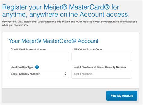 Meijer Mastercard Login