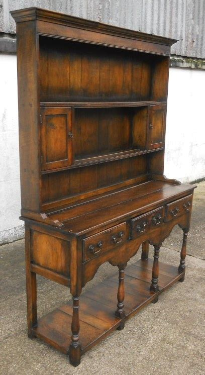 antique jacobean style oak welsh dresser  rack