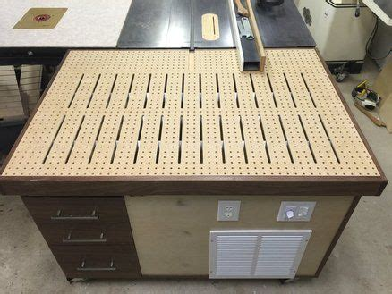 downdraft outfeed table wood shop projects downdraft