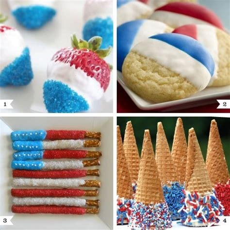 cuisine minute 4th of july white blue snacks