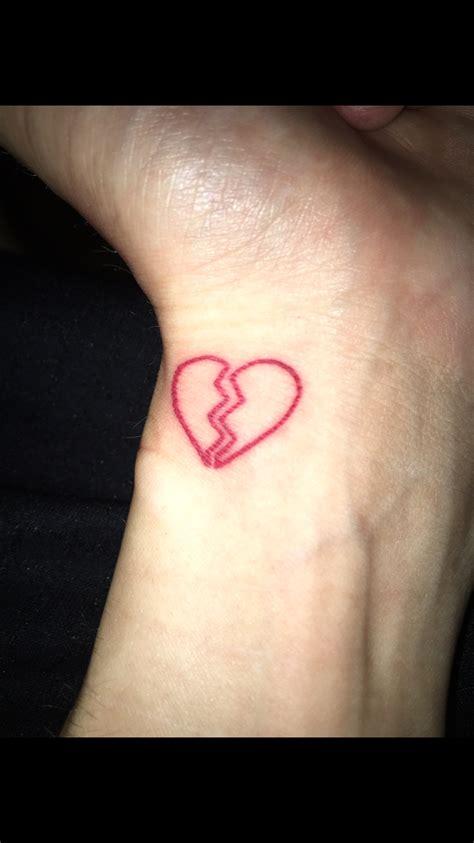 broken heart wrist tattoo broken heart tattoo broken