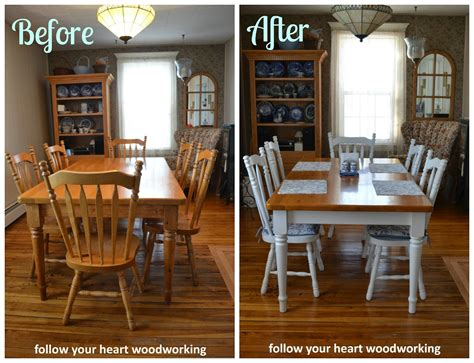 follow  heart woodworking painting  farmhouse table