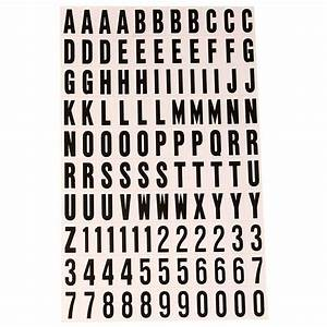 Hy ko 1 in self adhesive vinyl letters and numbers set mm for Self adhesive house numbers and letters