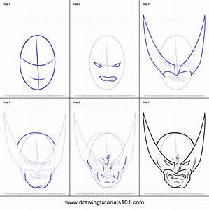 How To Draw Wolverine Head Printable Step By Step Drawing