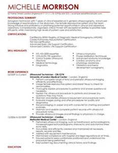 resume objective statement for retail management ultrasound technician cv template ultrasound technician cv exles livecareer