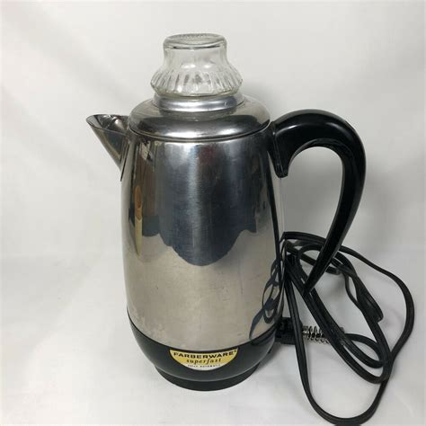 With farberware, cooking is simple and easy. Farberware Superfast Electric Coffee Pot 2 to 8 Cup VTG Percolator Glass Top #Farberw ...