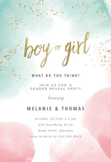 gender reveal invitation templates   island