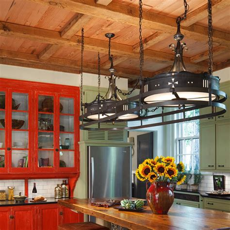 colorful kitchens  charisma traditional home