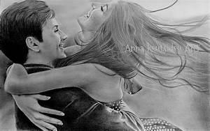Cute love drawings pencil art |HD romantic sketch wallpaper