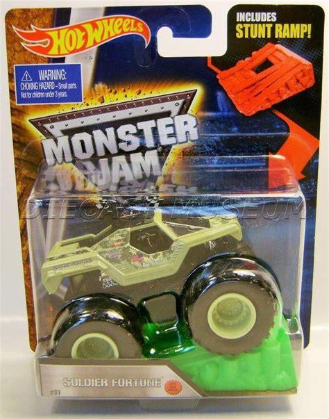 monster jam truck list soldier fortune military w ramp monster jam truck diecast