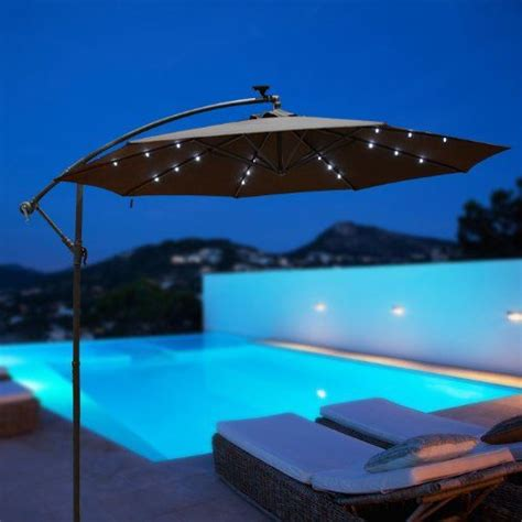 offset umbrella with solar lights this one has lights outt outdoor 10 39 patio led hanging