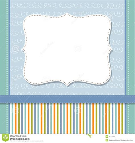 cool template frame design  greeting card stock vector