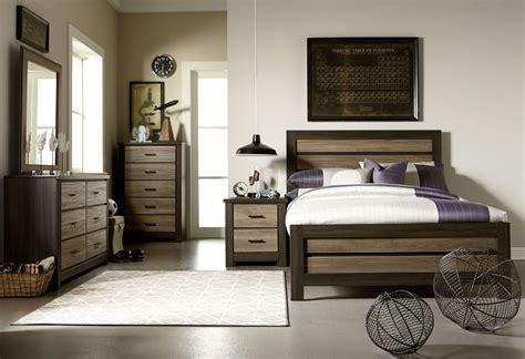 fremont dark  smoky weathered oak panel bedroom set