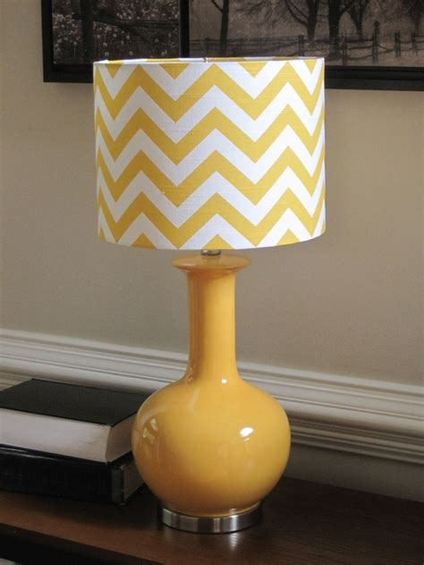 yellow drum l shade l shade drum lshade pendant yellow zigzag chevron