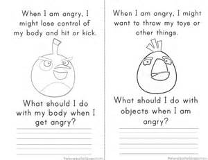 Angry Birds Anger Management Worksheets