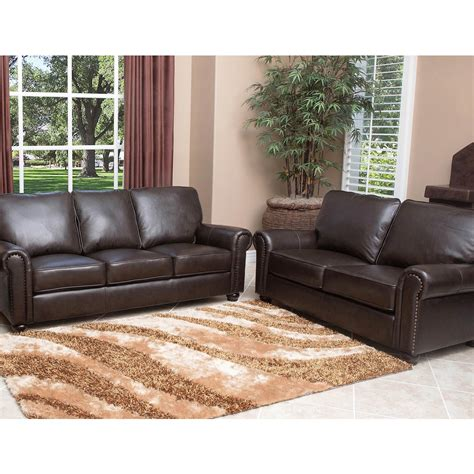 Italian Leather Sofa And Loveseat by Abbyson Living Bedford 2 Pc Top Grain Italian Leather